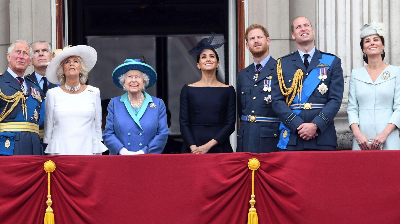 La familia real británica durante la celebración del Tropping the Colour, en una imagen de archivo. (EFE)