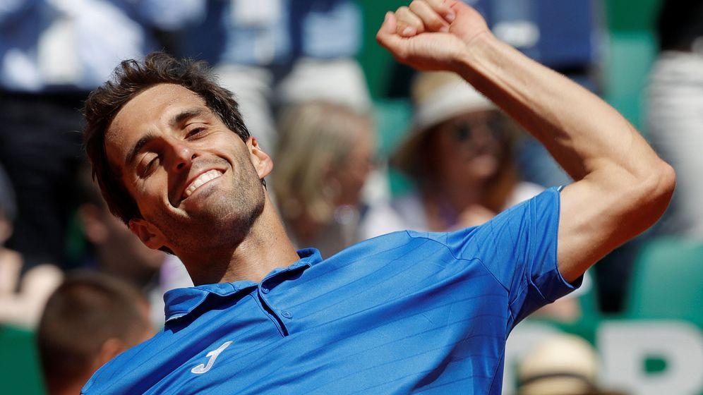 Foto: Albert Ramos celebra su victoria ante Murray en la tercera ronda de Montecarlo. (Reuters)