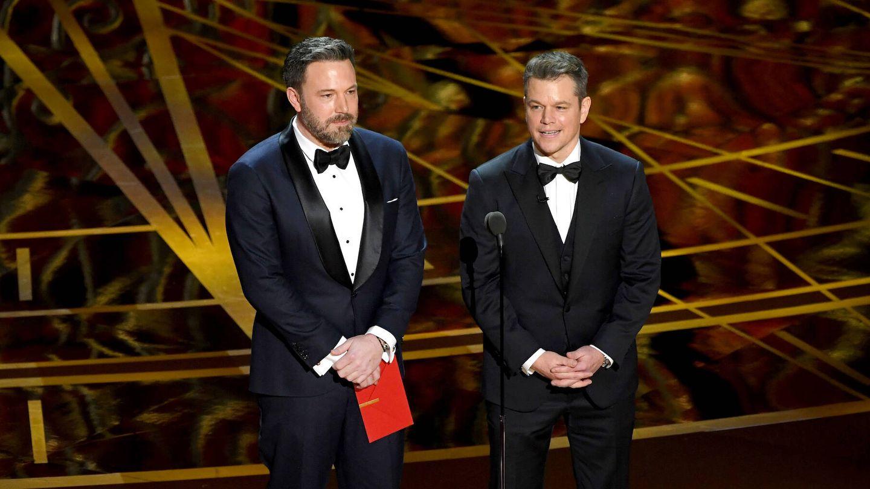 Affleck y Damon, en los Oscar de 2017. (Getty)