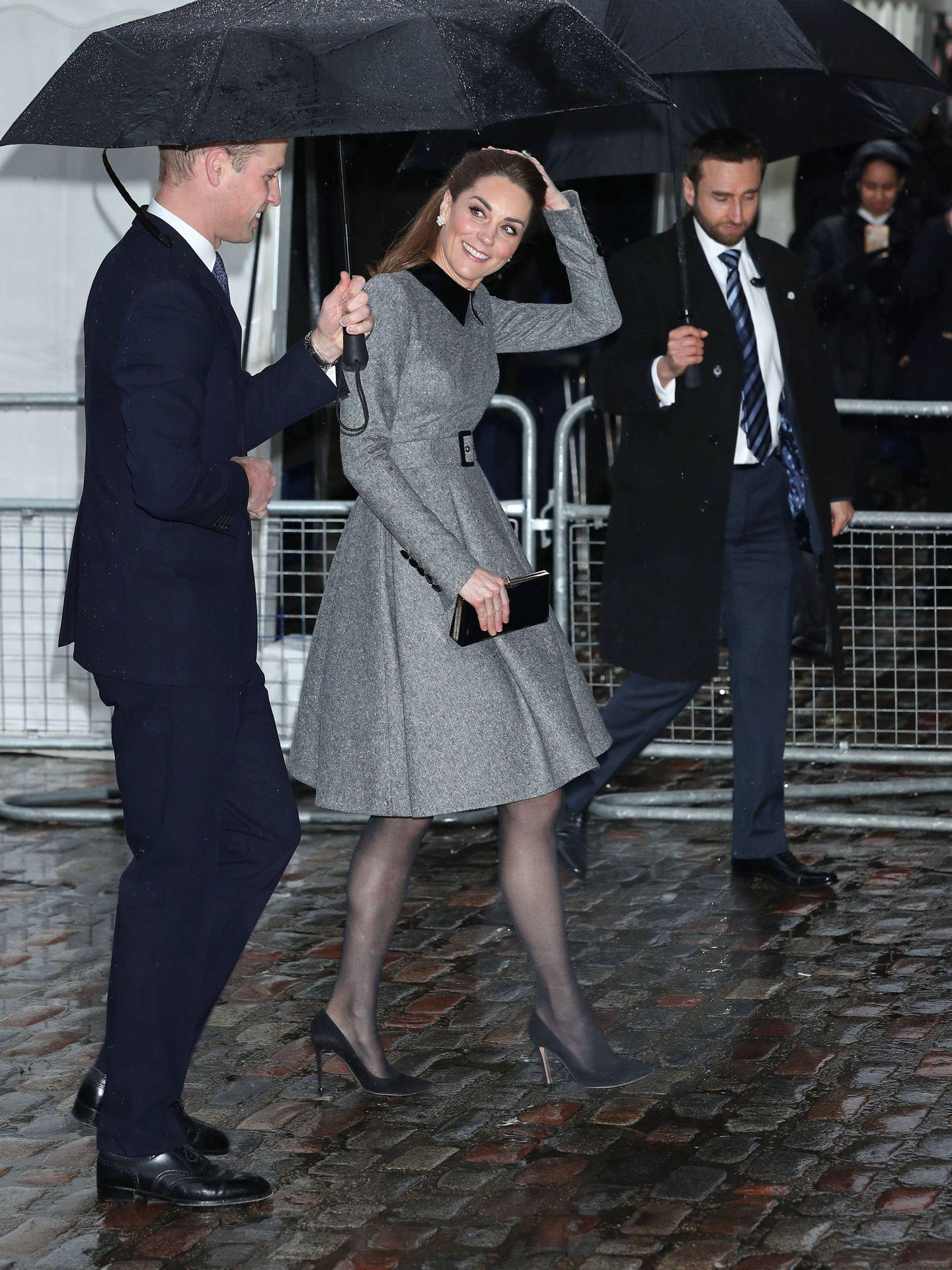 Los duques de Cambridge, a su llegada. (Getty)