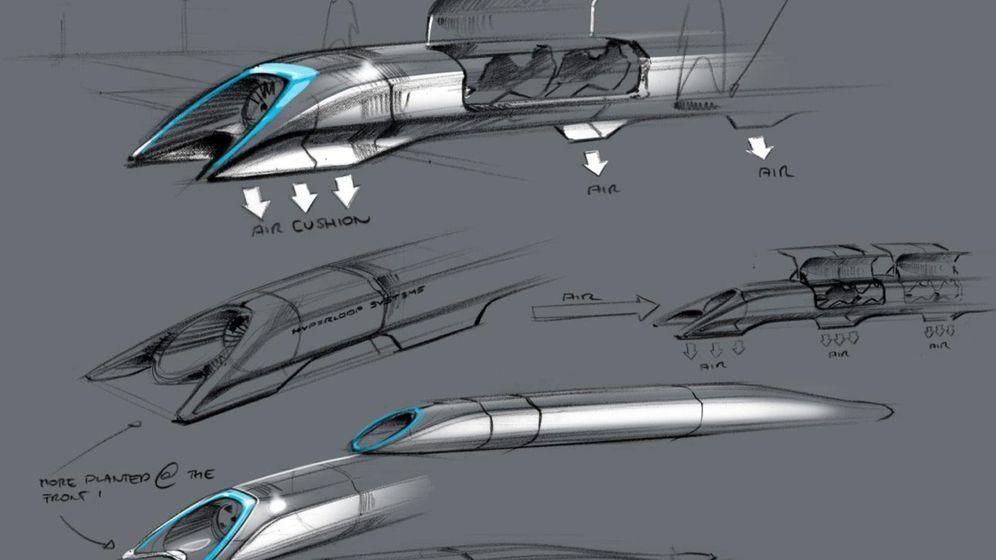 Foto: Recreación por ordenador del Hyperloop, un medio de transporte terrestre capaz de circular casi a la velocidad del sonido. (EFE)