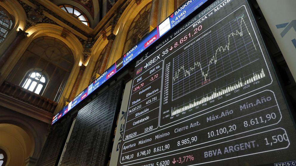 El Ibex cae con fuerza en una sesión marcada por los rebrotes, aranceles y el FMI