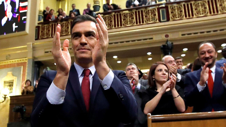 Pedro Sánchez, durante la investidura. (EFE)