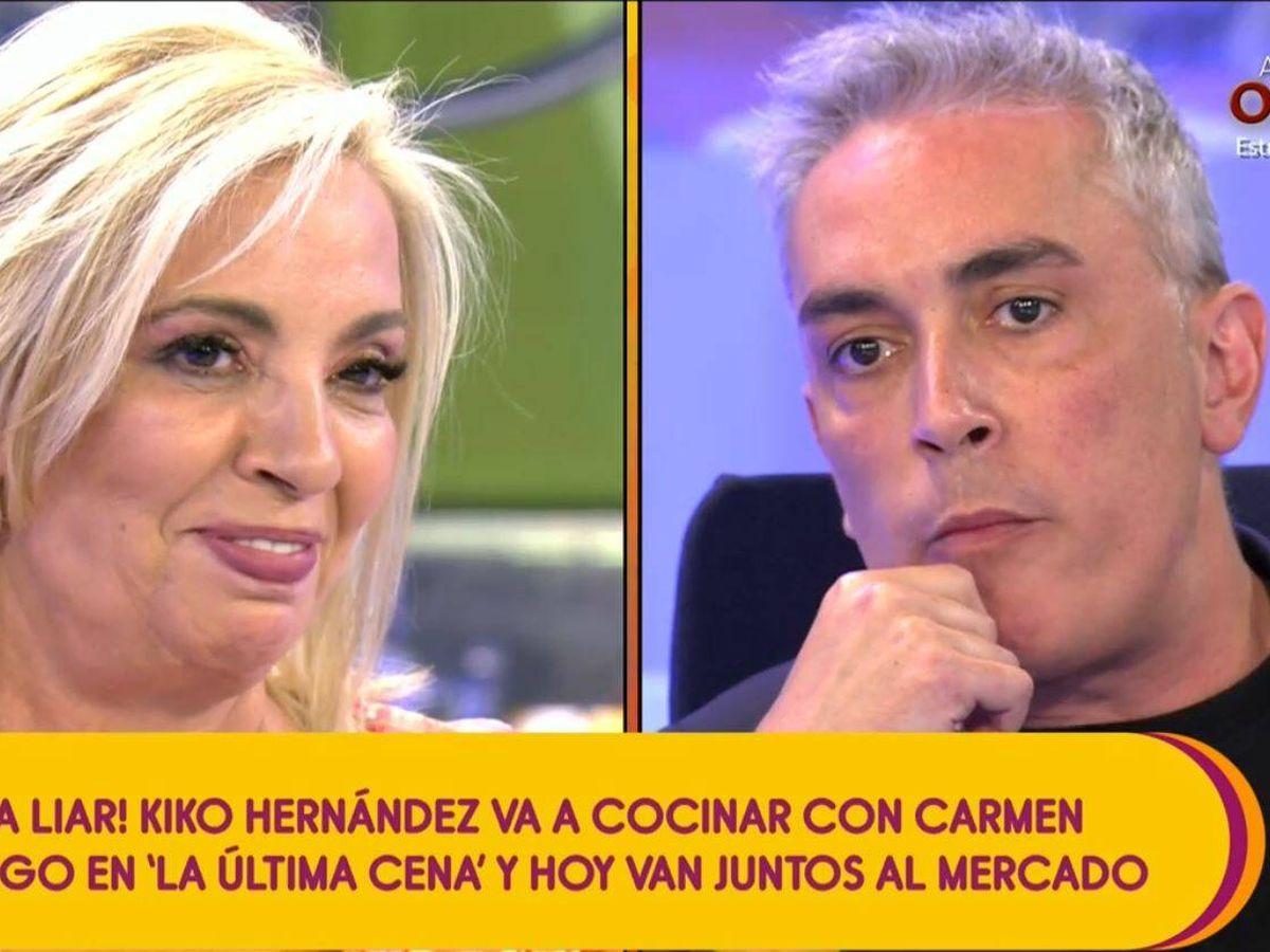 Foto: Carmen Borrego y Kiko Hernández. (Mediaset España)