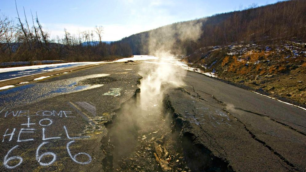 Foto: Centralia, pueblo minero de Pensylvannia.