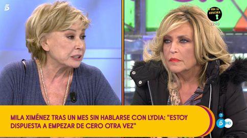 Mila Ximénez se rompe al enterrar el hacha de guerra con Lydia Lozano en 'Sálvame': Llevo una bomba dentro
