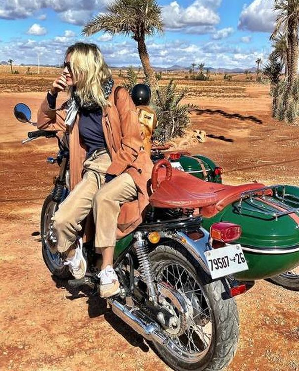 Foto: Amaia Salamanca, en plan viajero en Marrakech. (Instagram @marrakech)