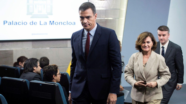 Sánchez, Calvo y Redondo. (EFE)