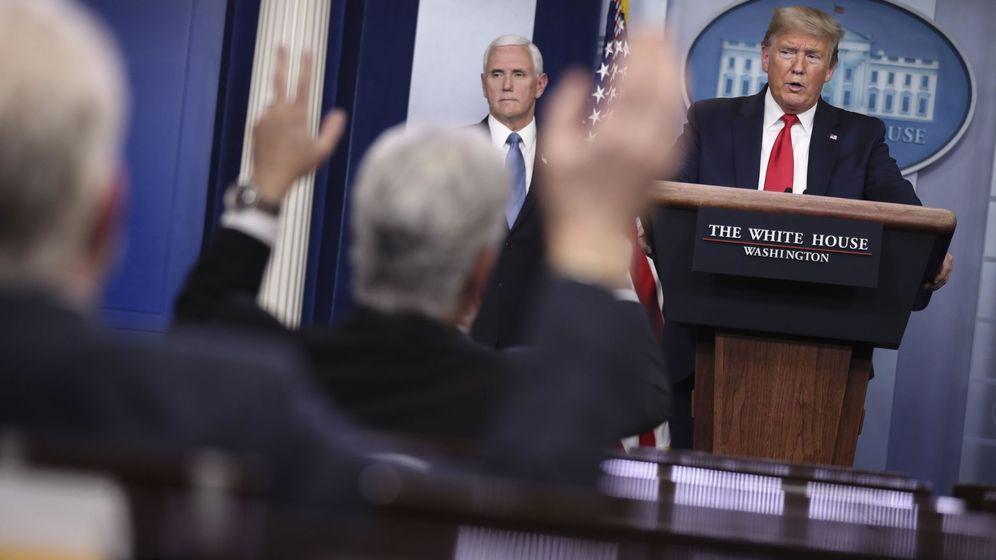 Foto: Donald Trump durante una rueda de prensa en la Casa Blanca (EFE)