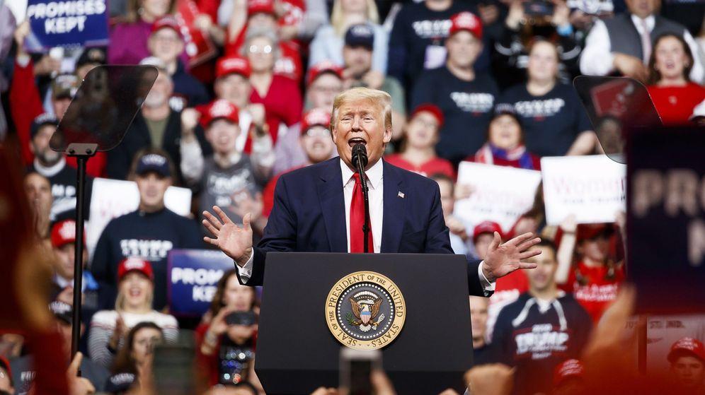 Foto: El presidente de Estados Unidos, Donald Trump, en un acto en New Hampshire. (Reuters)