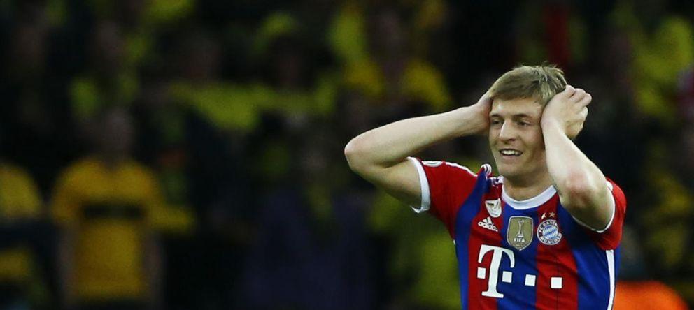 Foto: Toni Kroos reacciona durante un partido de la Copa Alemana (Reuters).