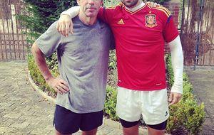 Los Aznar hacen deporte y patria en las calles de Londres