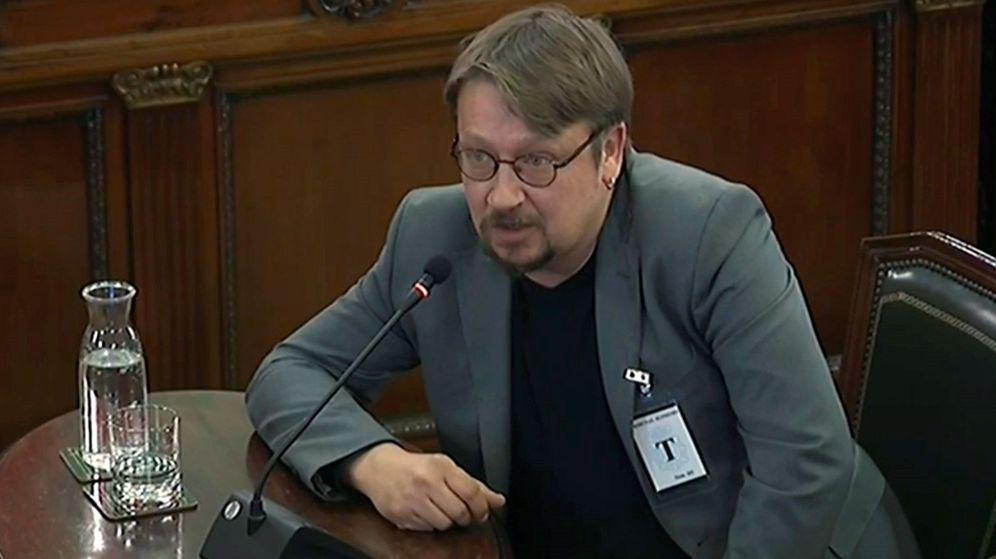 Foto: Domènech, durante su interrogatorio. (EFE)