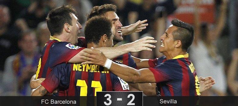 Foto: Messi y Alexis ponen punto final a los intentos de un Sevilla indignado