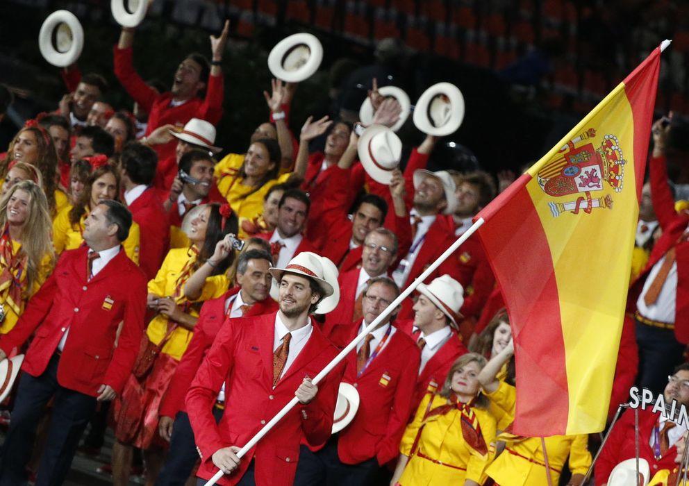 Foto: Pau Gasol en la ceremonia inaugural de los Juegos de Londres (Efe).