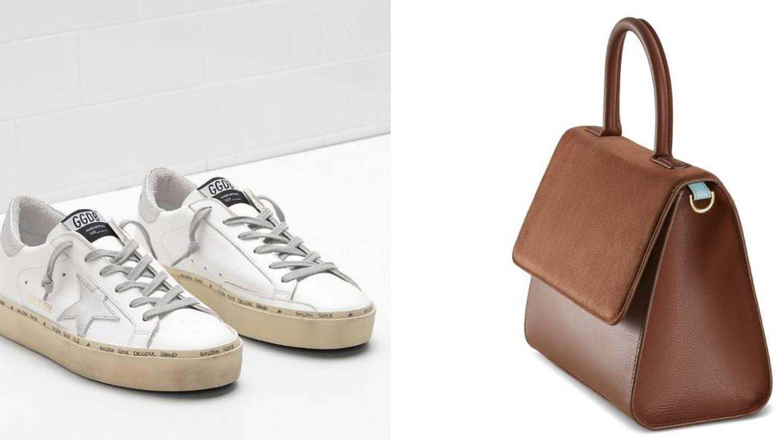 Zapatillas (Golden Goose) y bolso (Moi & Sass).