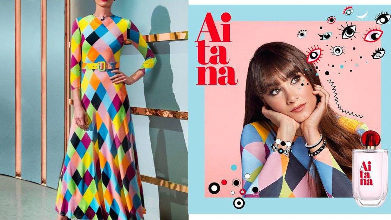 Mismo vestido para dos famosas muy diferentes: Nieves ejerciendo como presentadora y Aitana lanzando su perfume. (Instagram)