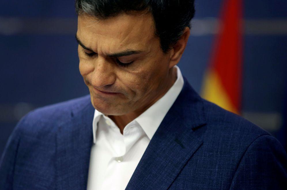 Foto: Pedro Sánchez, este 29 de octubre en el Congreso, cuando anunció su renuncia a su escaño de diputado. (Reuters)
