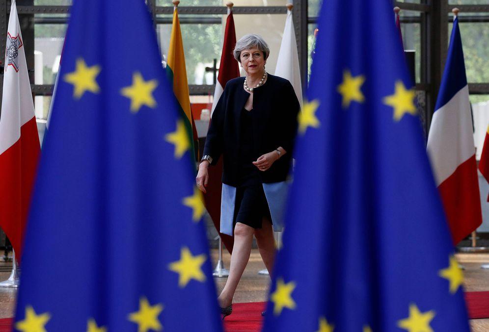 Foto: La primera ministra británica Theresa May a su llegada a una cumbre de la UE en Bruselas. (Reuters)