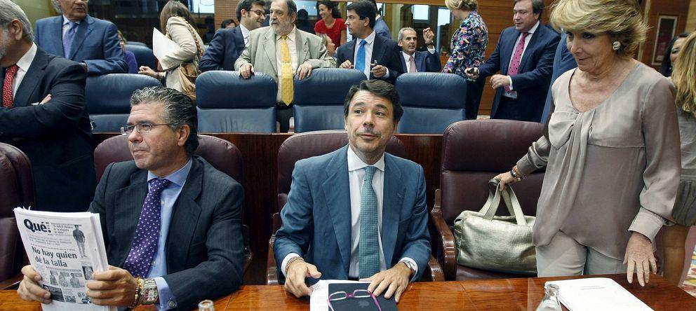 Foto: Francisco Granados junto con Ignacio González y Esperanza Aguirre. (EFE)