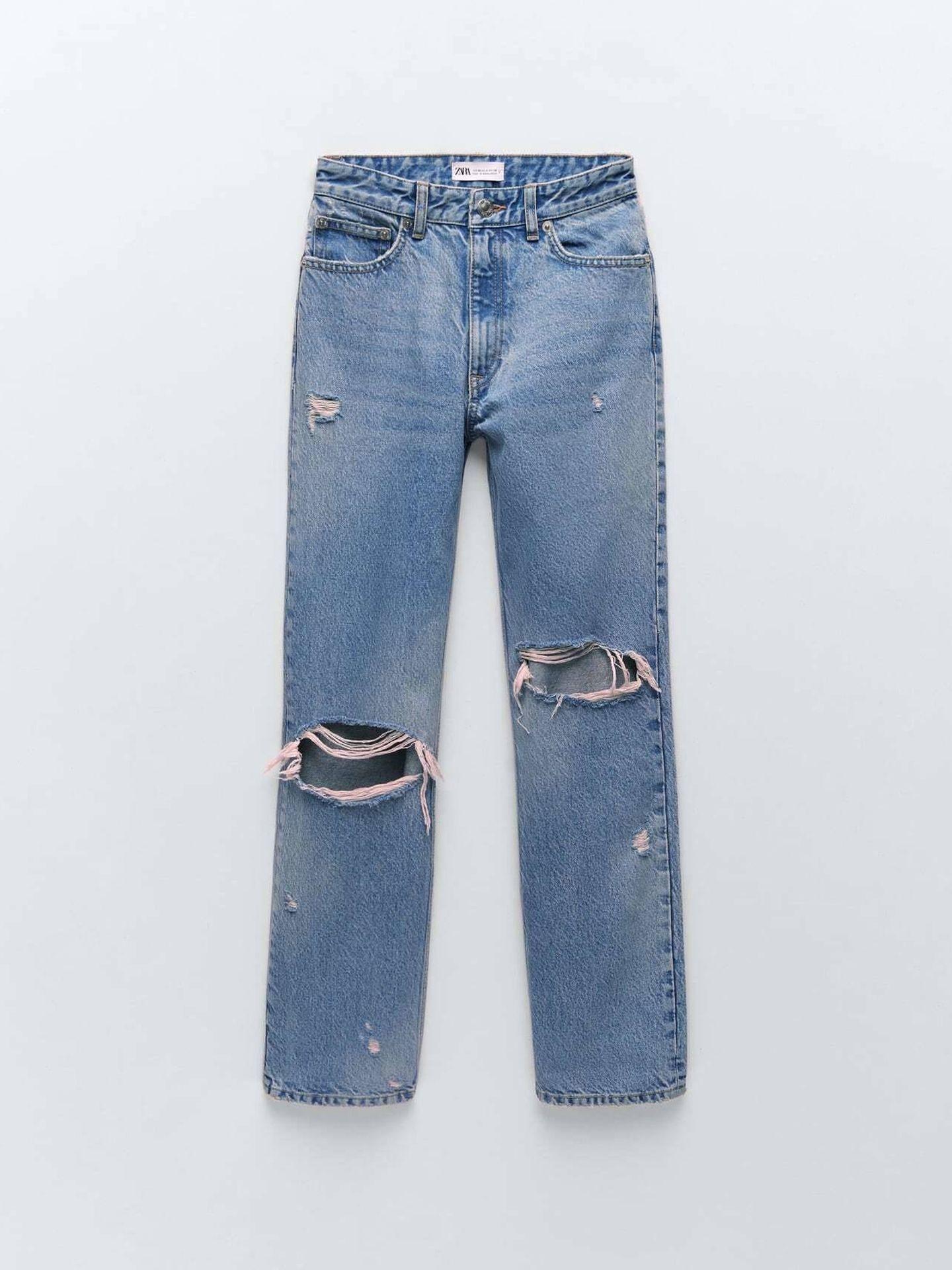 Los jeans de Zara que tiene Amelia Bono. (Cortesía)