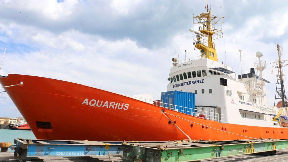 Foto: El 'Aquarius' es un buque fletado por MSF y SOS Mediterranée para salvamento de inmigrantes en el mar   EFE