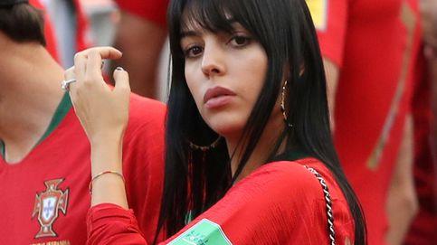 Georgina Rodríguez (y su anillazo), en el Mundial para animar a Cristiano Ronaldo