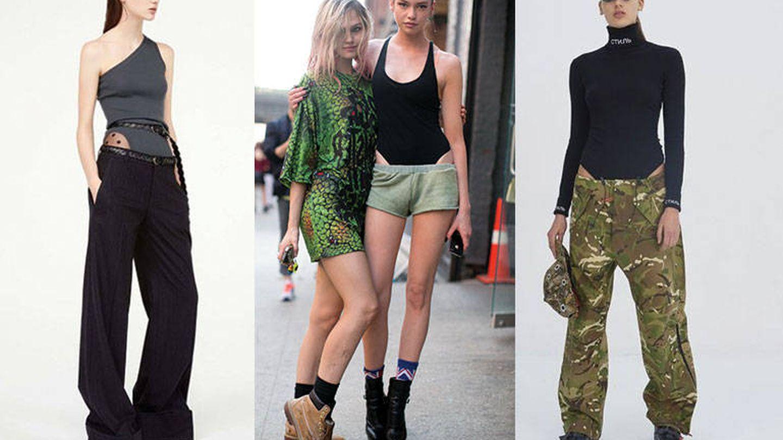 Nina Ricci (izda.) y Heron Preston (dcha.) son dos de las firmas que se han sumado a la tendencia. Las modelos off duty (centro) también se apuntan.