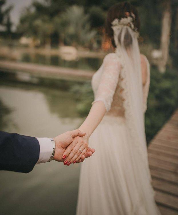 Foto: Una imagen del Instagram de Lidia Bedman, el día de su boda con Santiago Abascal. (Redes)