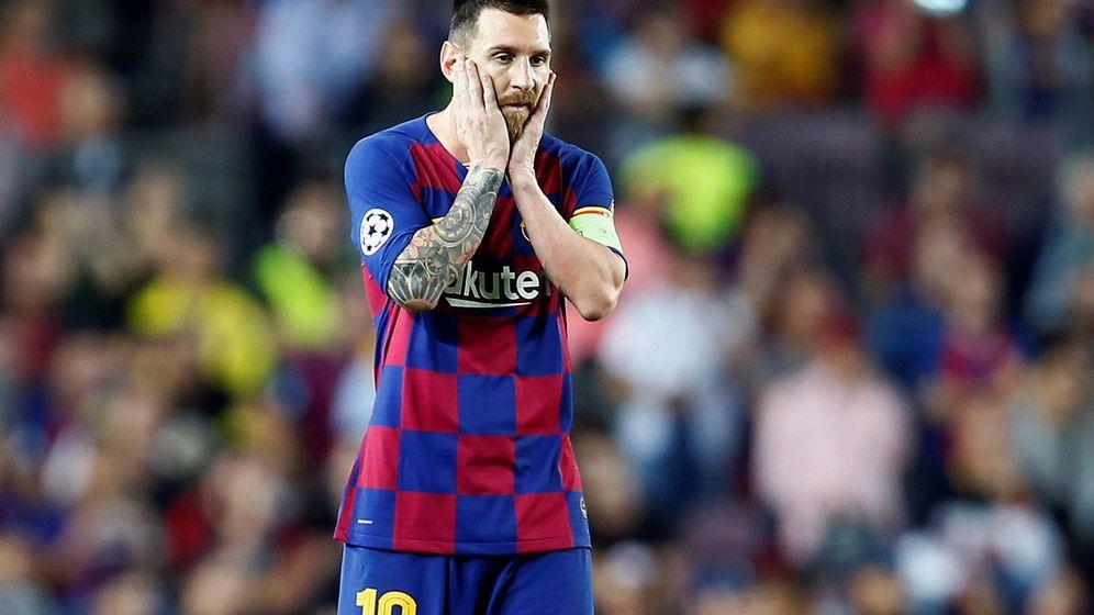 Foto: Leo Messi durante el choque de Champions ante el Inter. (EFE)