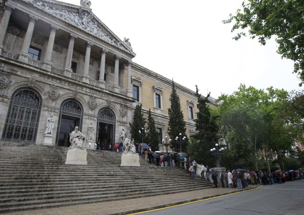 Foto: Exterior de la Biblioteca Nacional (EFE)