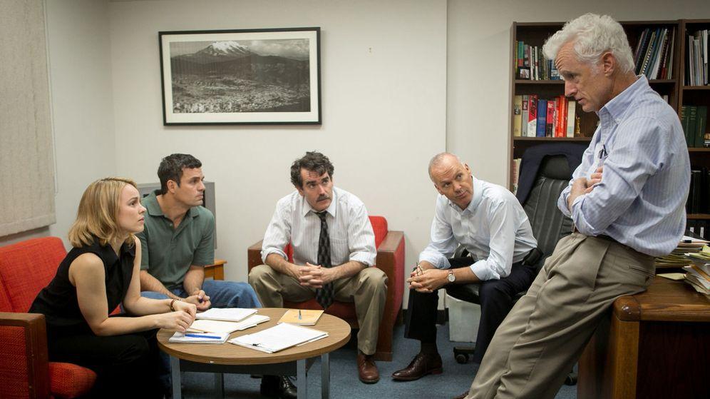 Foto: Rachel McAdams, Mark Ruffalo, Brian d'Arcy James, Michael Keaton y John Slattery en 'Spotlight'
