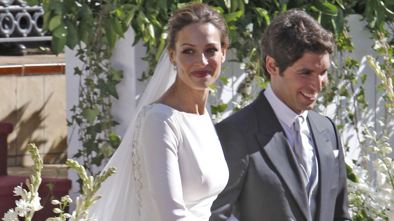 Foto: Eva y Cayetano el día de su boda (Gtres)