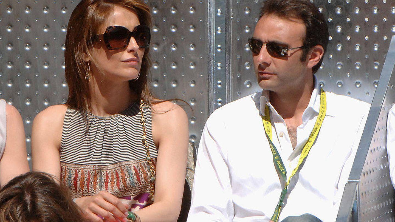 Paloma Cuevas y Enrique Ponce, en el Masters de Tenis de Madrid. (Getty)