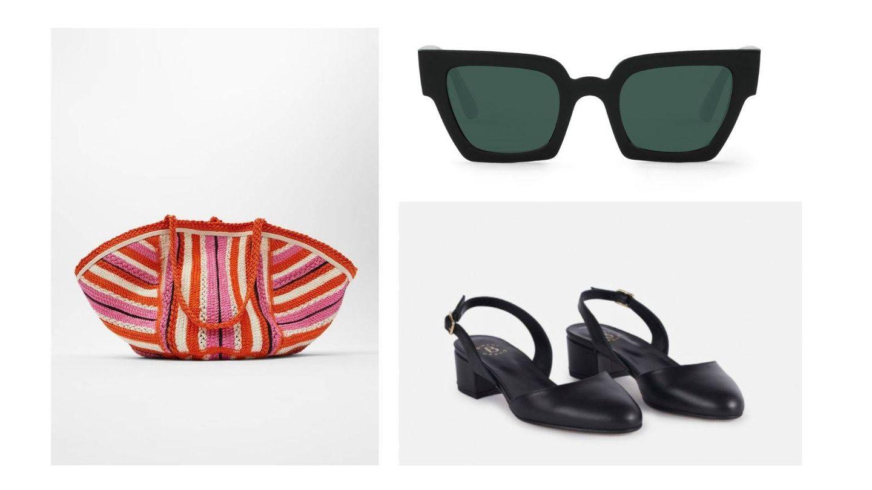 Bolso de Zara, zapatos de Bimani y gafas de Mr Boho. (Cortesía)