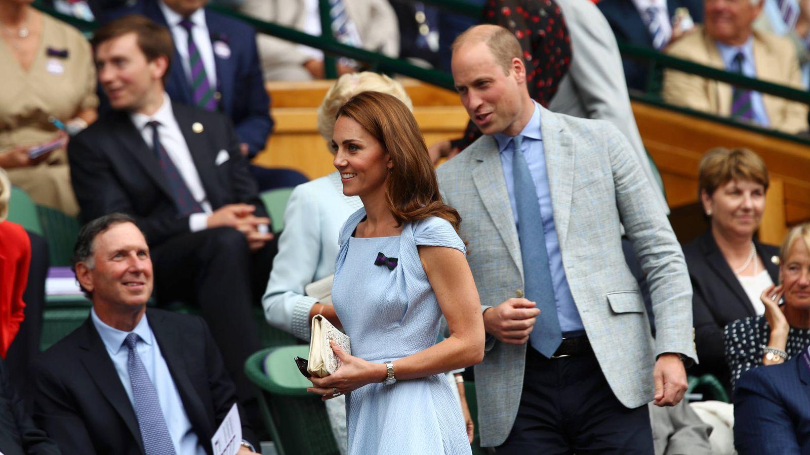Foto: Los duques de Cambridge en Wimbledon 2019. (Getty)