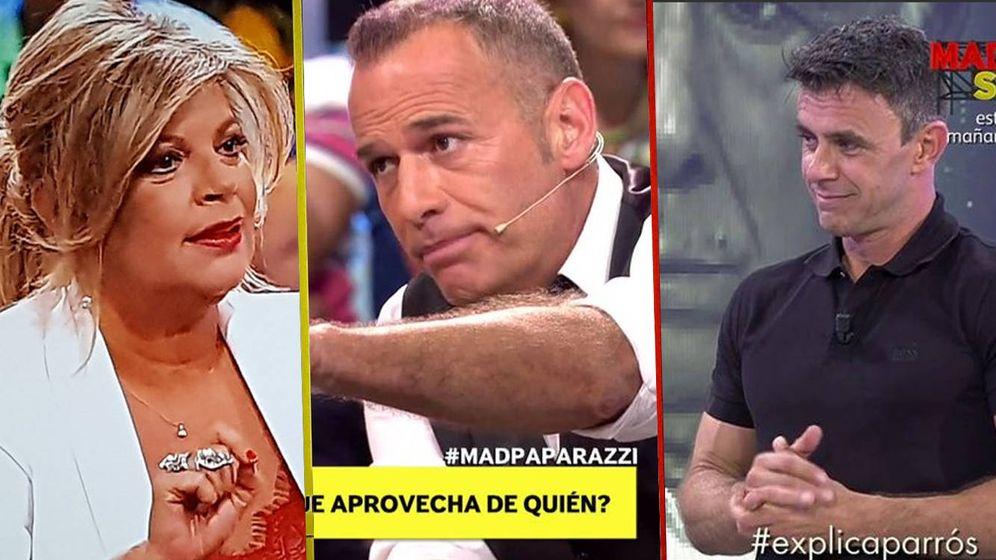 Foto: Terelu, Carlos Lozano y Alonso Caparrós en 'Mad in Spain'. (Mediaset España)