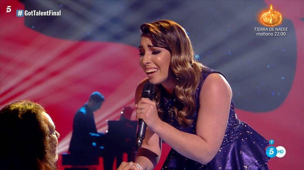 Foto: Nazaret Natera, en la final de 'Got Talent España'. (Telecinco)