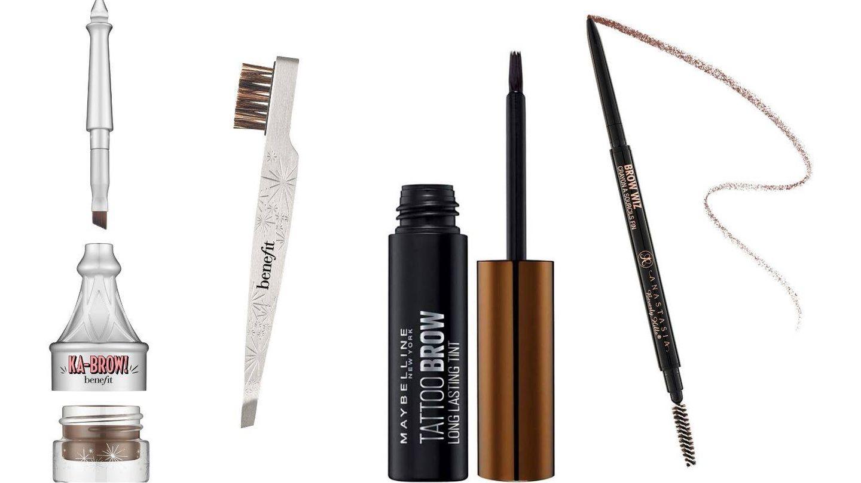 Todos los productos que necesitas para hacerte las cejas en casa.