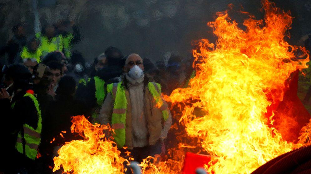 Foto: Manifestación de los chalecos amarillos en Angers, Francia, el 19 de enero de 2019. (Reuters)