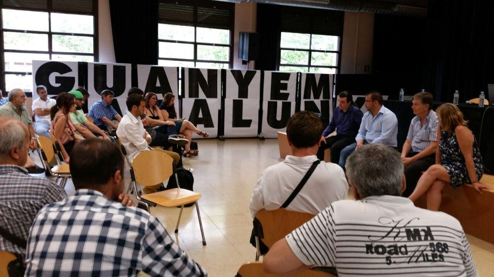 Foto: Presentación de la candidatura alternativa a Catalunya, Sí que es Pot. (Guayem Catalunya)