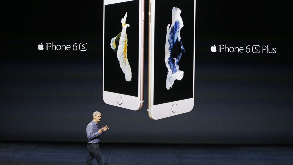 Foto: Tim Cook presenta los nuevos 'smartphones' de Apple: el iPhone 6s y 6s Plus (Reuters)