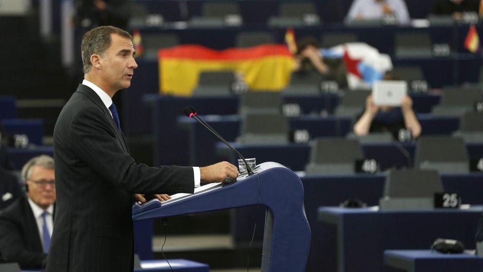 Felipe VI, contundente en Estrasburgo: Pueden contar con una España unida