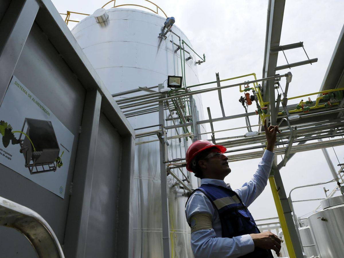 Foto: Biodigestor de residuos orgánicos. (EFE)