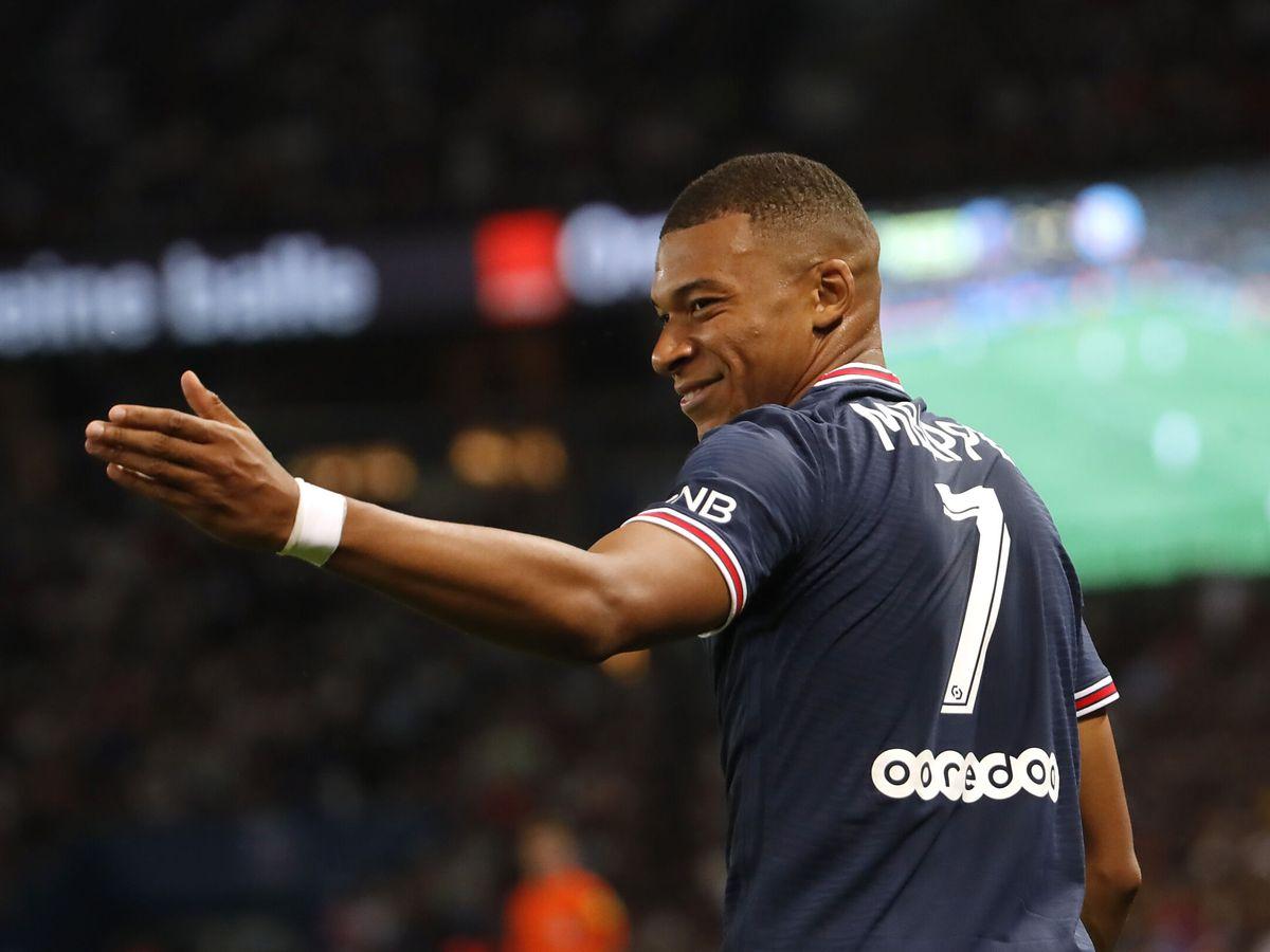 Foto: Mbappé, en el debut del PSG esta temporada. (Reuters)