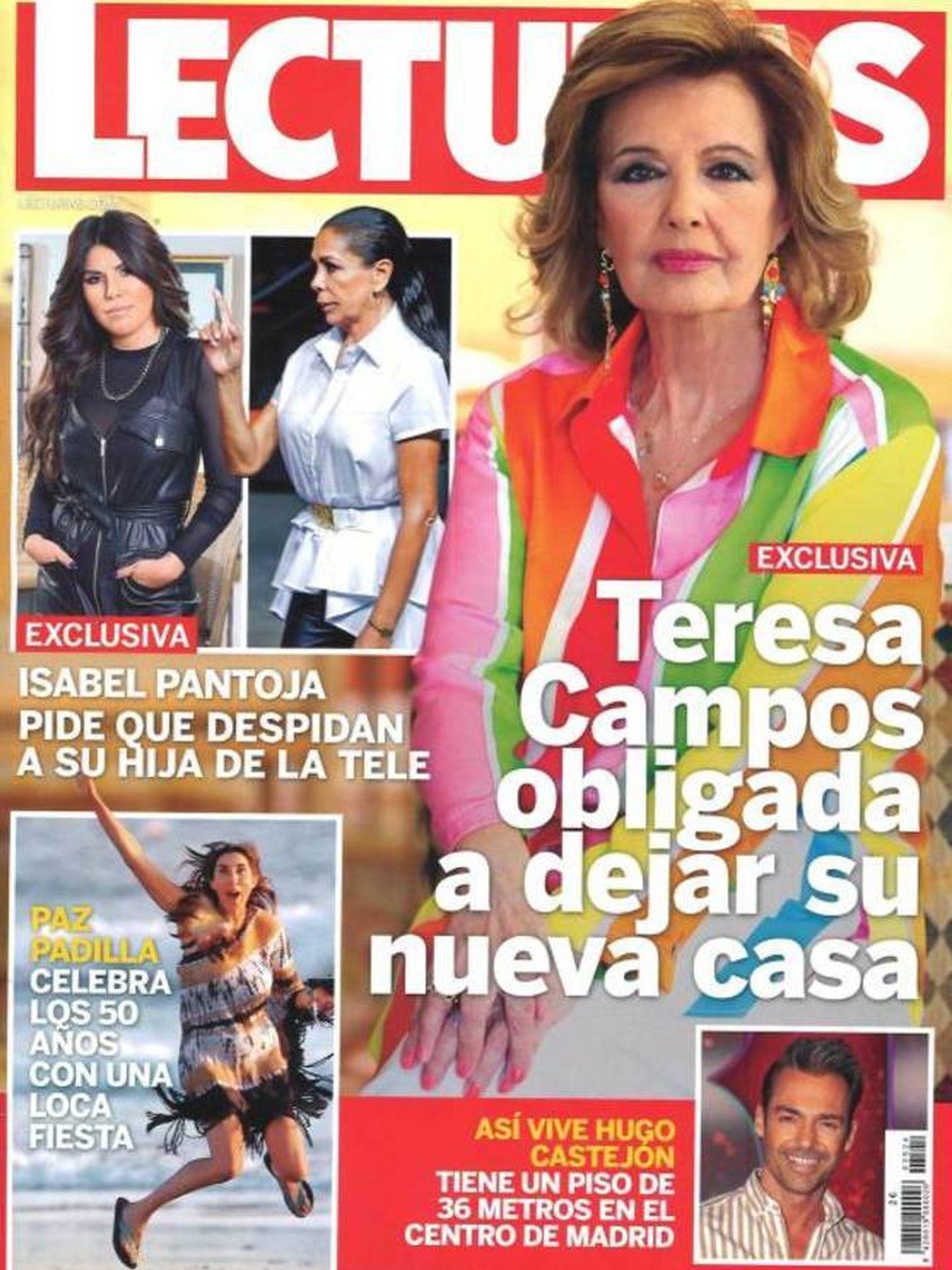 La Campos, en portada. (Lecturas)