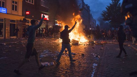 Los nuevos disturbios en Hamburgo se saldan con más agentes heridos
