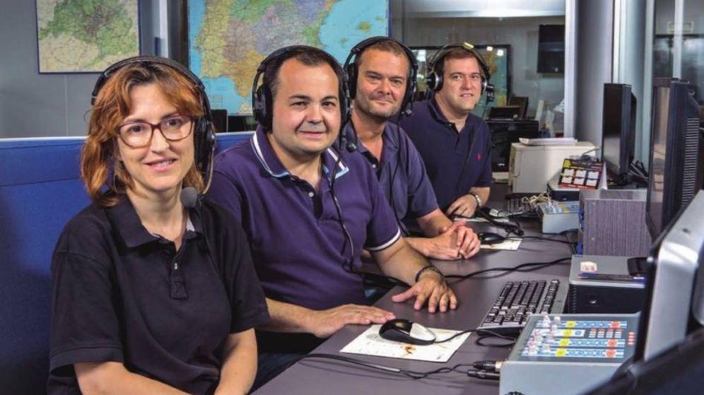 Foto: Los periodistas Alicia Gutiérrez, Carlos Garcinuño, Javier Fernández y Fernando Pérez (DGT)