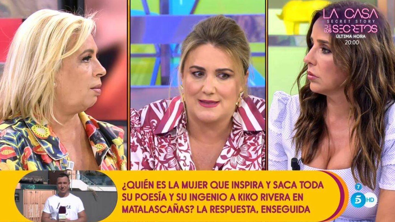 Carmen Borrego, Carlota Corredera y Carmen Alcayde. (Mediaset)
