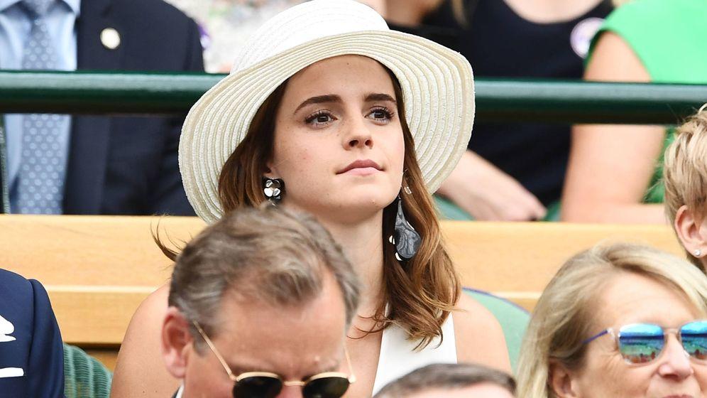 Foto: Emma Watson durante la final femenina de Wimbledon. (Getty)